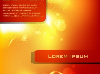 Warm yellow and red lights background