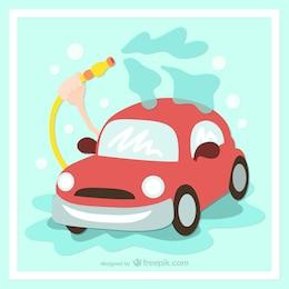 Washing your car cartoon