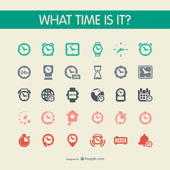Watch icons set