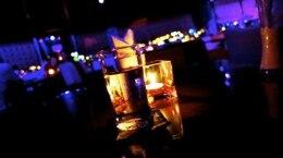 water in a bar  nightlife