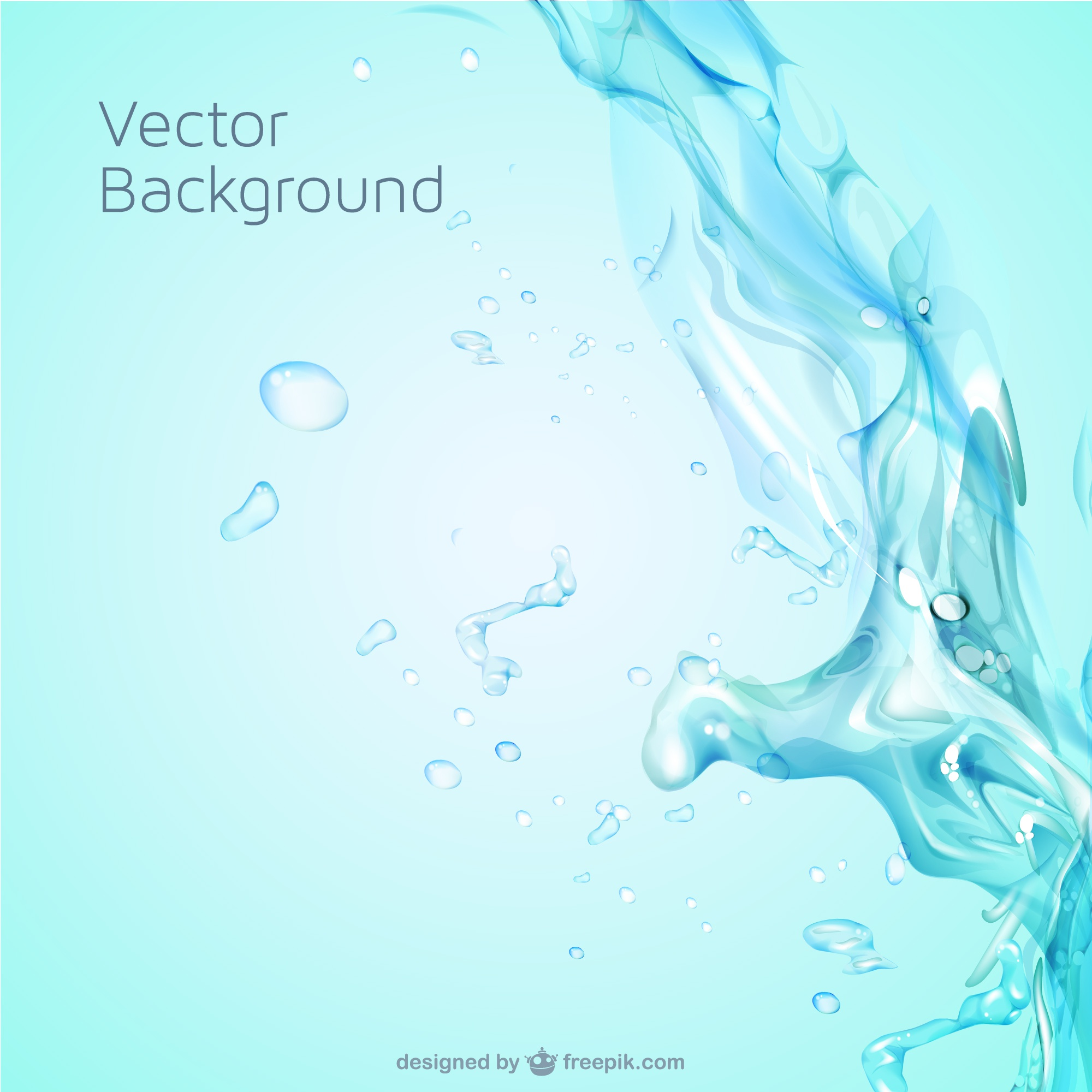 Water splash free vector template