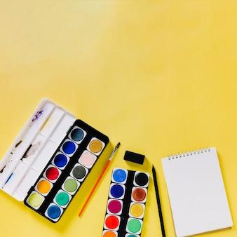 Watercolor and sketchbook
