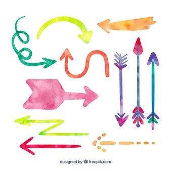 Watercolor arrows collection