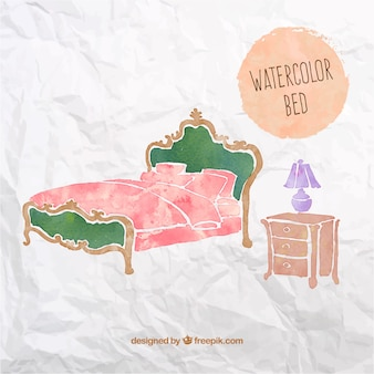 Watercolor bed