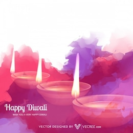 Watercolor diwali illustration abstract background