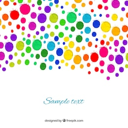 Watercolor drops background