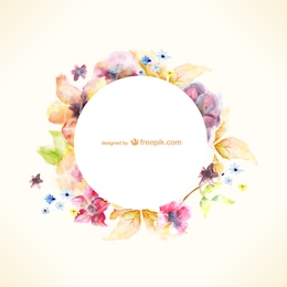 Watercolor floral vector art