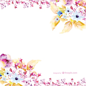 Watercolor flowers vector art