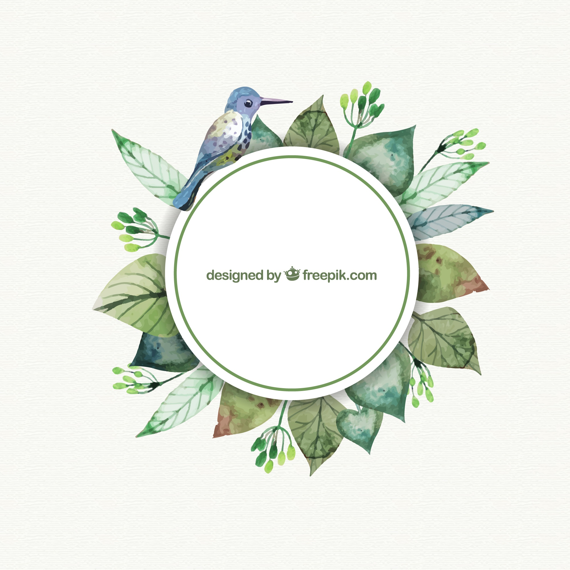 Watercolor nature label