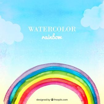 Watercolor rainbow