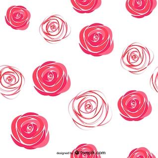 Watercolor roses pattern