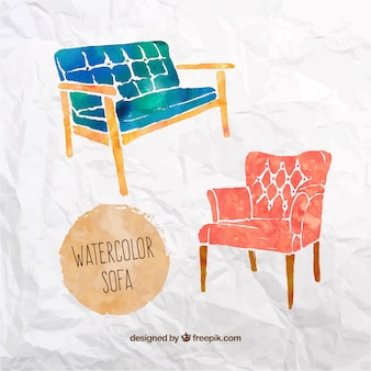 Watercolor sofa