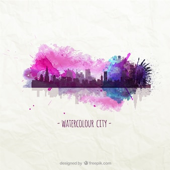 Watercolour city