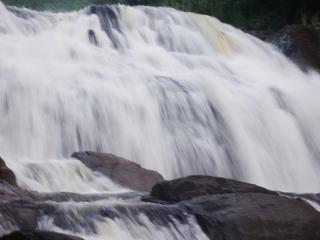 Waterfalls in Sri Lanka, foam
