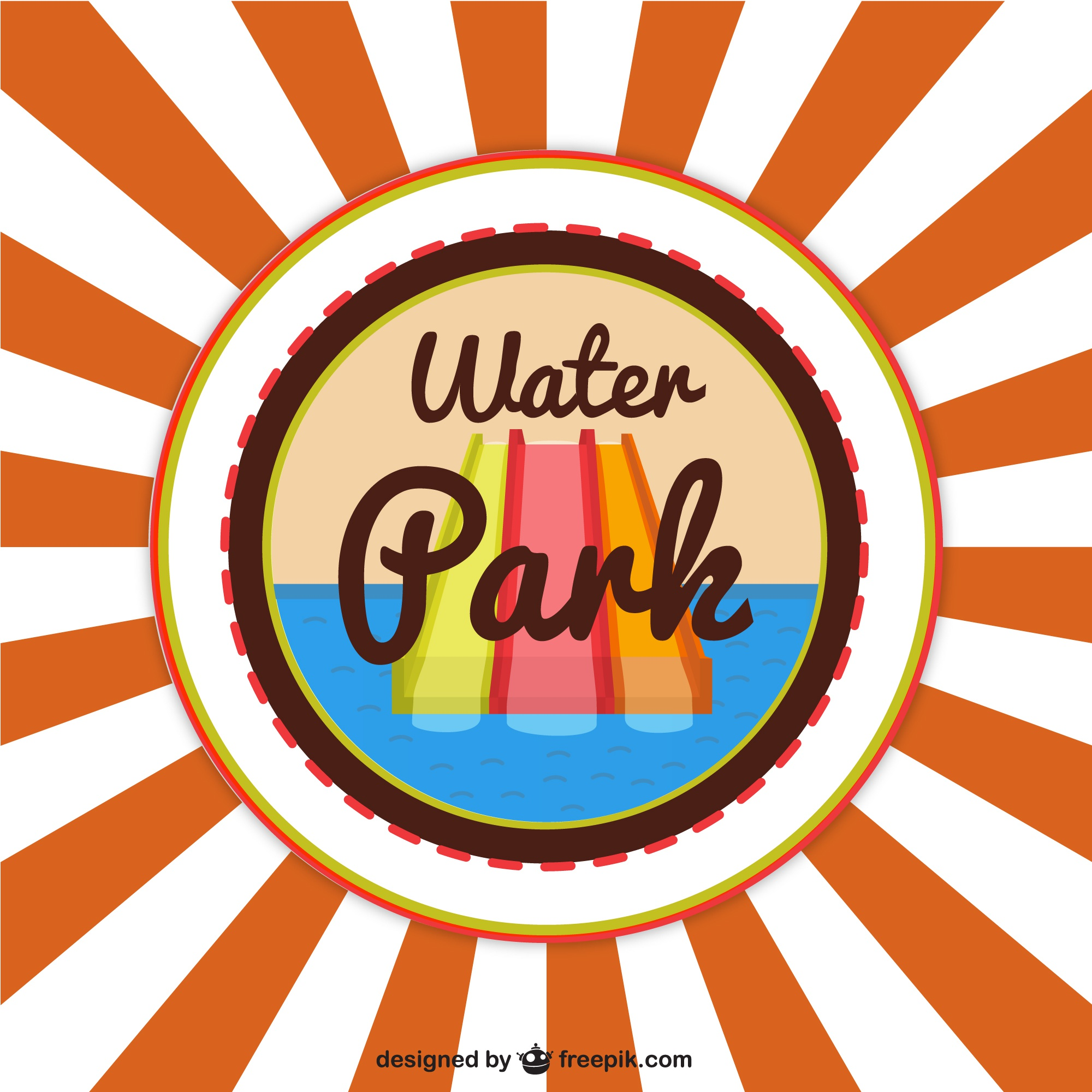 Waterpark vector background