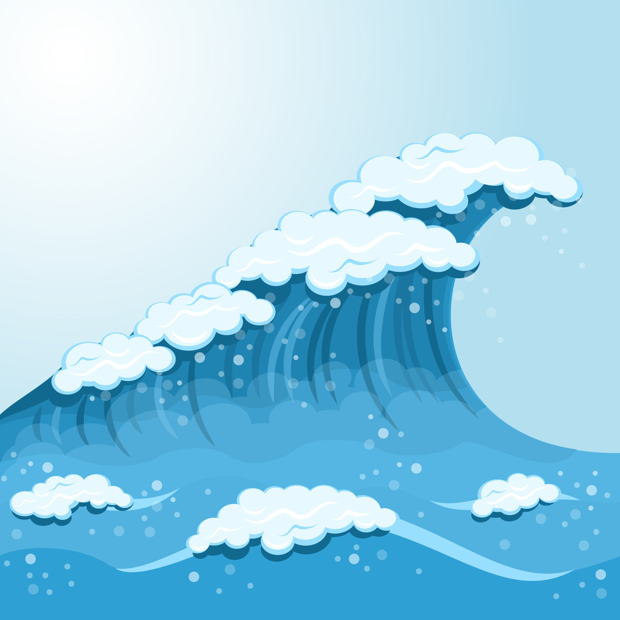 Wave cartoon background