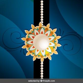 Wavy background with Rakhi wristband