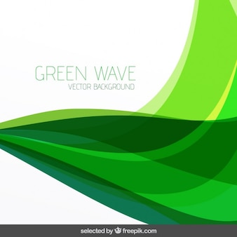 Wavy green abstract background