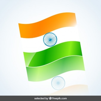 Wavy India flag