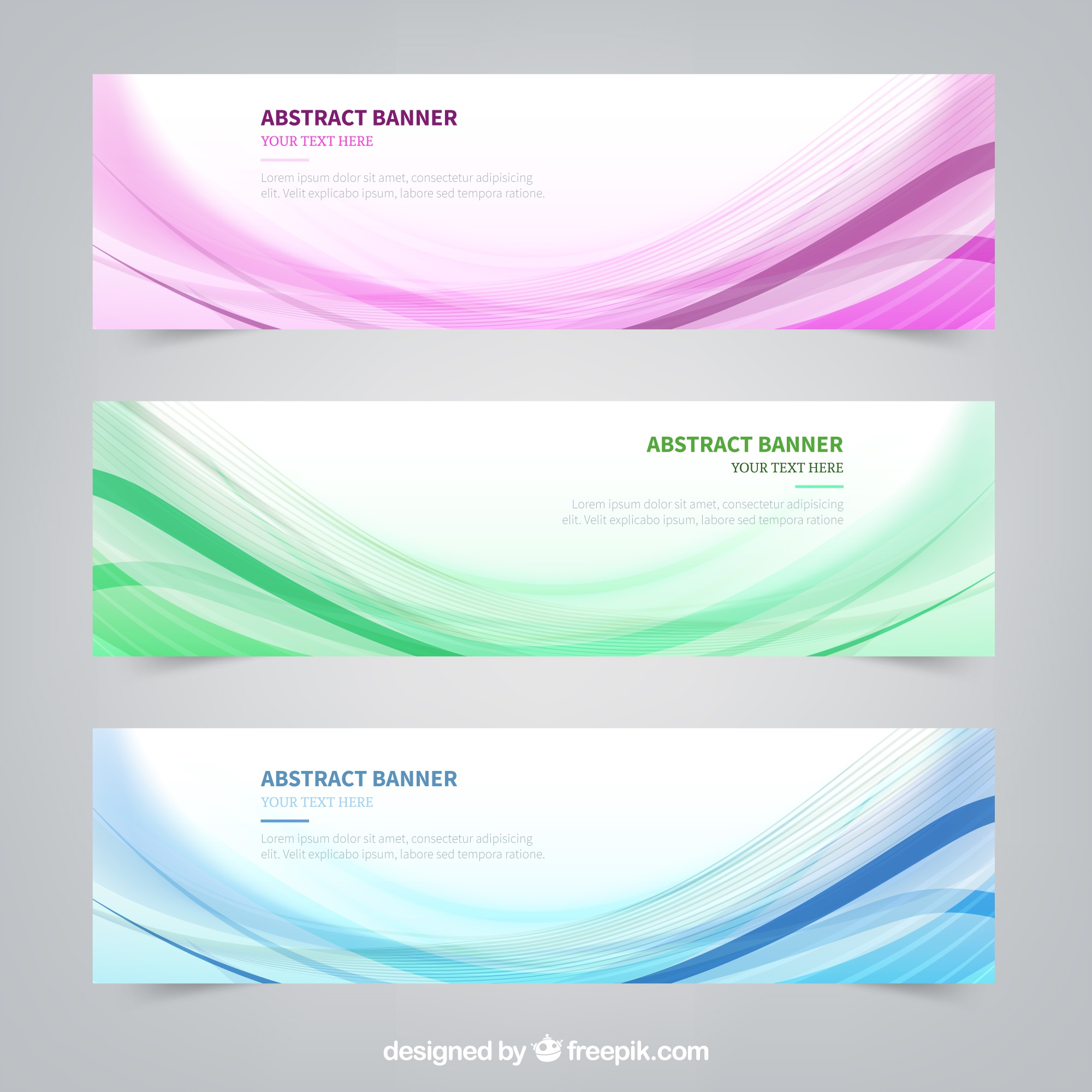 Wavy lines banners