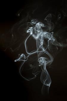 Wavy steam silhouette