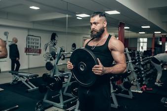 Wearing guy woman trainer portrait