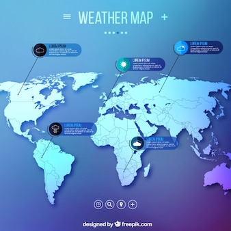Weather map infographic