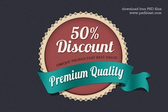 web badge design  psd