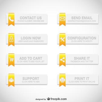 Web buttons elegant set