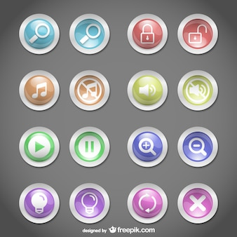 Web buttons round design