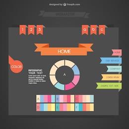 Web color palette interface