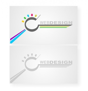 Web design business card vector templates