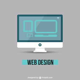 Web design minimal vector