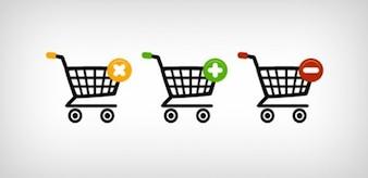 web shopping carts icons psd