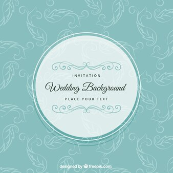 Wedding background in retro style