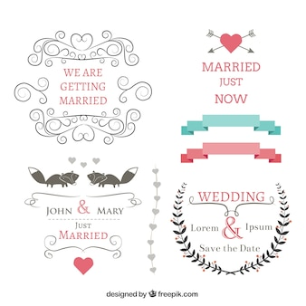 Wedding banners set