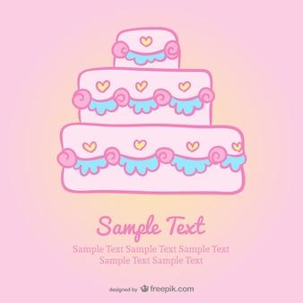 Wedding cake cartoon invitation