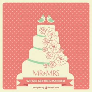Wedding cake vector art