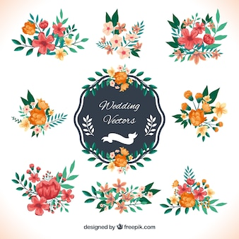 Wedding decoration in floral style