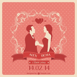 Wedding design free vector