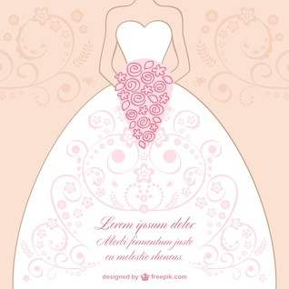 Wedding dress lace design vector