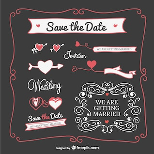 Wedding invitation graphics elements