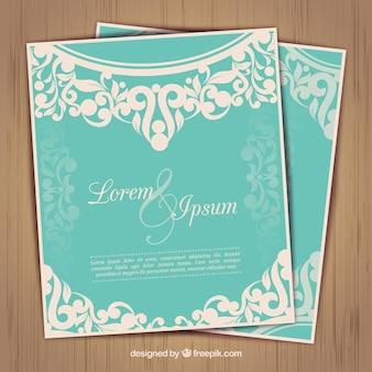 Wedding invtation in ornamental style
