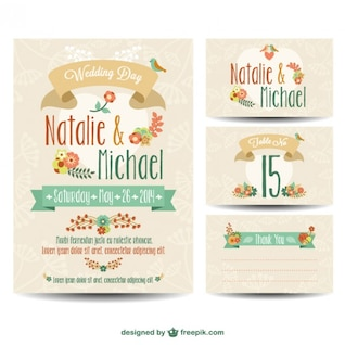 Wedding printables free set