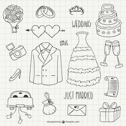 Wedding scribbles pack