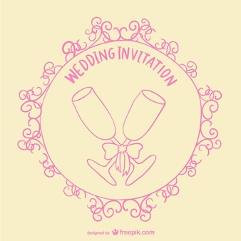 Wedding toast invitation card
