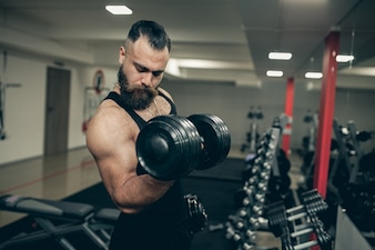 Weight male dumbbell adult fitness