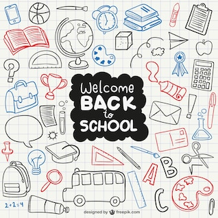 Welcome back to school icons