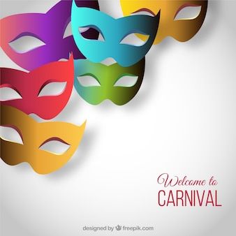 Welcome to carnival with colorful masks