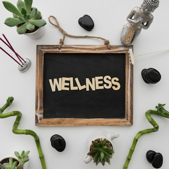 Wellness composition with bamboo